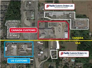 Pacific Highway Border Crossing, Surrey, BC & Blaine, WA