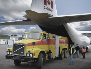 Emergency air freight services