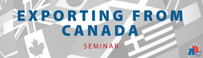 Image: Exporting from Canada Seminar