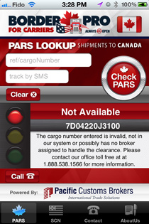 Border Pro iPhone App - Not Available