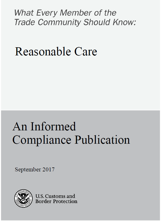 Reasonable Care Update 2017