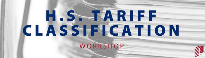 Image: HS Tariff Classification Workshop