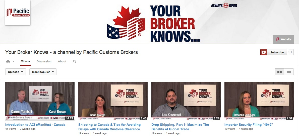 Your Broker Knows - YouTube Channel