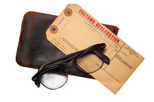 Customs declaration wallet